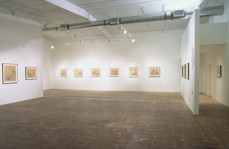 Kojo Griffin, Drawings, 2002, installation view