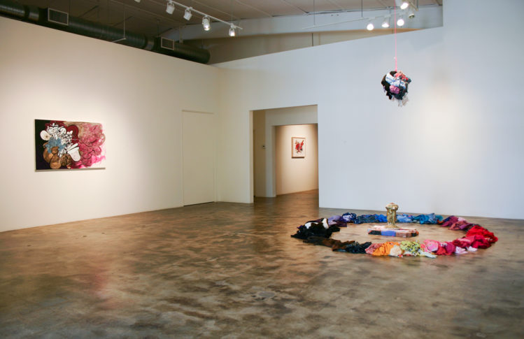 Shinique Smith, Torch Songs, 2008, installation view